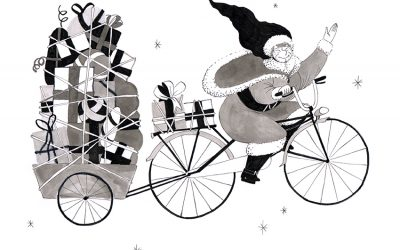 In 2016, even Mrs Claus get her bike to bring you gifts !