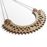 Wood silver plastron necklace Lady Harberton Bewood