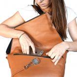 Camel Leather satchel Le Messenger Lady Harberton