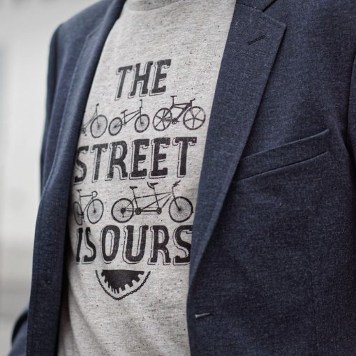 Cycling quote t-shirt for men the street is ours Lady Harberton