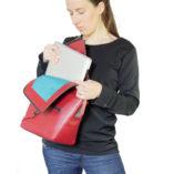 Burgundy leather satchel Le Messenger bag Lady Harberton laptop