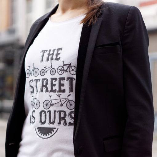 Cycling quote t-shirt for women the street is ours Lady Harberton