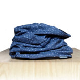 merino wool men blue snood scarf Lady Harberton front
