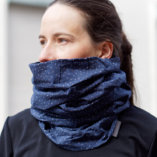 merino wool men blue snood scarf Lady Harberton woman