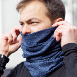 merino wool men blue snood scarf Lady Harberton men 2