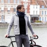 merino wool men blue snood scarf Lady Harberton bicycle