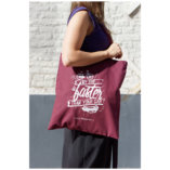 The Burgundy and White Tote Bag Lady Harberton