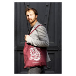 The Burgundy and White Tote Bag Lady Harberton men