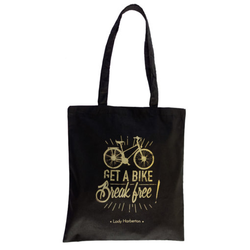 Black and Gold Tote Bag Lady Harberton