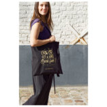 Black and Gold Tote Bag Lady Harberton women