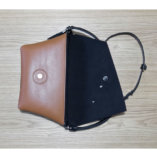 The Camel leather Clutch bag – with a leather strap