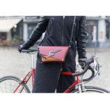 Black, Camel & Burgundy leather Clutch bag Lady Harberton