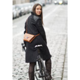 The Camel leather Clutch bag Lady Harberton bicycle