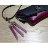 burgundy leather key ring lady harberton