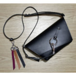The black, camel and burgundy leather key ring Lady Harberton