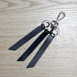 black leather key ring lady harberton