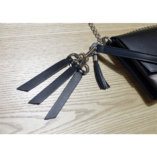 black leather key ring with a hook lady harberton