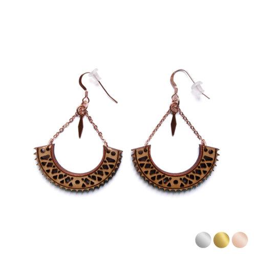 pink golden earrings Lady Harberton Bewood