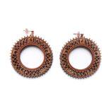 pink golden wood large hoop earrings Lady Harberton Bewood